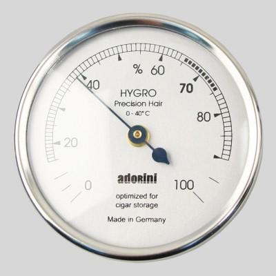 Adorini Hygrometer Groot - Zilver