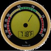 Cigar Oasis digitale hygrometer 4R goud