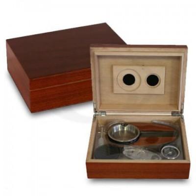 Bookwill Humidor Giftset - Rood/Bruin