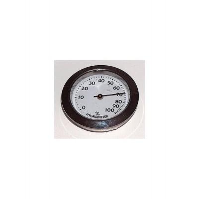 Hygrometer zilver 34 mm